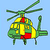 Aviation helicopter coloring