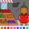 Color Games - Tom T-Rex the Tomato - Din