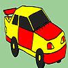 Decrepit taxi coloring