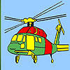 Heavy helicopter coloring