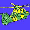 Heavy military helicopter coloring