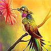Hummingbird in the garden puzzle