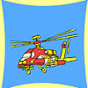 Military transport helicopter coloring