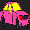 Pink city taxi coloring
