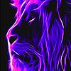Purple lion slide puzzle