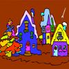 quaint village coloring games