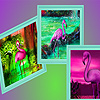 Tropical purple flamingos puzzle