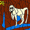 Weird lion coloring
