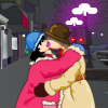 winter season kissing