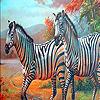 Zebra family in the desert puzzle